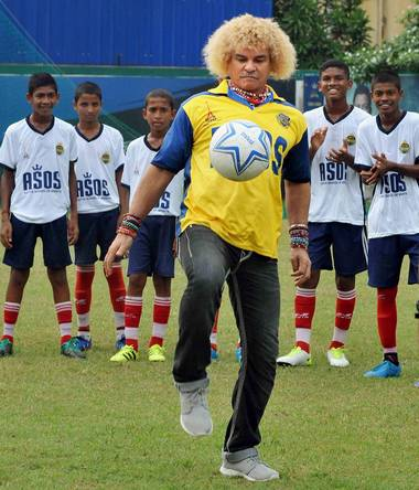 6cd2252618a Carlos Valderrama retired 15 years ago, but still retains the spirit and  the zest for the game that typified his image as a player.