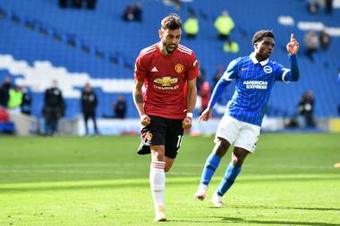 United Earns Dramatic Win At Brighton With Late Fernandes Penalty Sportstar