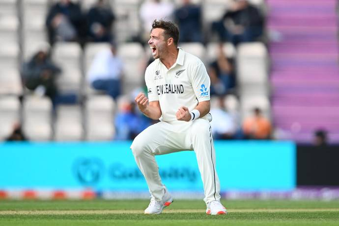 Tim Southee said he learnt about Beattie's condition a couple of years ago and has been trying to help her ever since. - GETTY IMAGES